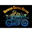 Skeleton Rider Motorcycle vector image vector image