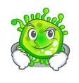 smirking cartoon microba virus bacteria in body vector image