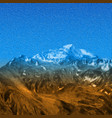 snow high mountains landscape painting effect vector image
