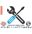 Spanner And Screwdriver Flat Icon With 2017 Bonus vector image vector image