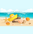 summer postcard design sunburst vector image
