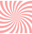 sweet pink candy abstract spiral background vector image