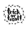 trick or treat with raven traces vector image vector image