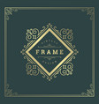 vintage flourishes ornament swirls lines frame vector image vector image