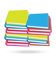 books stack isolated white background vector image