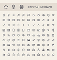 Set of Line Universal Icons vector image
