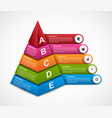 abstract 3d pyramid options infographics template vector image vector image