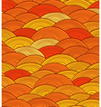 Abstract seamless pattern of yellow waves vector image vector image