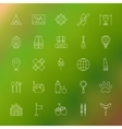 Adventure Camping Line Icons vector image