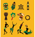african icons vector image