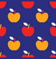 apple simple seamless pattern vector image vector image