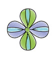 beautiful petals flower herbal botany vector image vector image