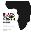 black history month event poster template