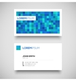 blue business card set vector image vector image