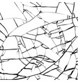 broken glass texture cracked mirror pattern vector image