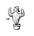 cactus show muscle biceps printable cartoon vector image vector image