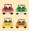 car front view flat set vector image vector image