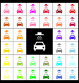 car wash sign felt-pen 33 colorful icons vector image vector image