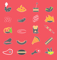 Colorful Flat Flood Snacks vector image vector image