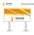 company bill board design with creative design vector image vector image