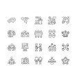 cooperation line icons signs set outline vector image vector image