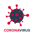 coronavirus molecule cell icon flat vector image