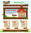 Country web template vector image vector image