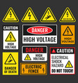 danger high voltage signs vector image