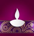 diwali style design vector image
