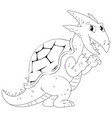 doodle animal for dragon vector image