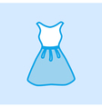 Dress Icon Simple Blue vector image