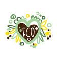 eco label logo graphic template healthy vector image vector image