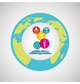 eco science research chemistry icons vector image