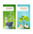 ecology green energy 2 vertical banners vector image vector image