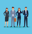 executive men cartoon vector image vector image