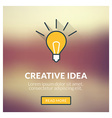 Flat design concept for creative idea with vector image vector image