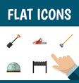 Flat icon farm set of tool barbecue hothouse and