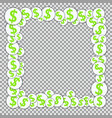 frame with paper stickers with dollar signs vector image