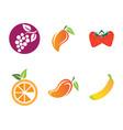 fruits logo template icon vector image