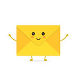 funny happy cute smiling envelope letter vector image