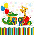 giraffe and crocodile baby blocks