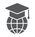 global education glyph icon e learning vector image vector image