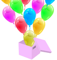 Glossy multicolored balloons vector image