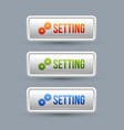glossy setting buttons vector image vector image