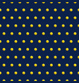 gold dots on blue color abstract background vector image