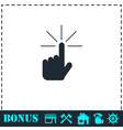 Hand click icon flat vector image vector image