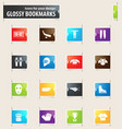 hockey bookmark icons vector image vector image