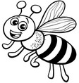 honey bee cartoon character coloring book vector image