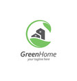 house with leaf logo design templategreen house vector image vector image