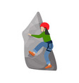 kids climbing climber children character vector image vector image